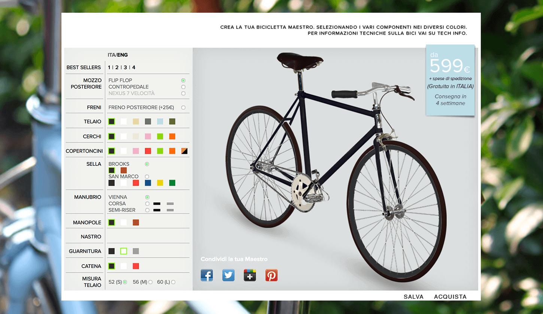 configuratore Cicli Maestro milano