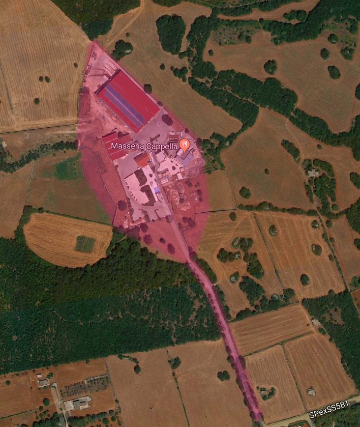 mappa masseria cappella