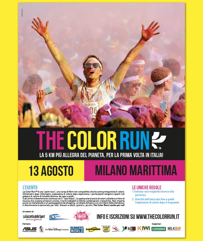 manifesto The Color Run Milano Marittima
