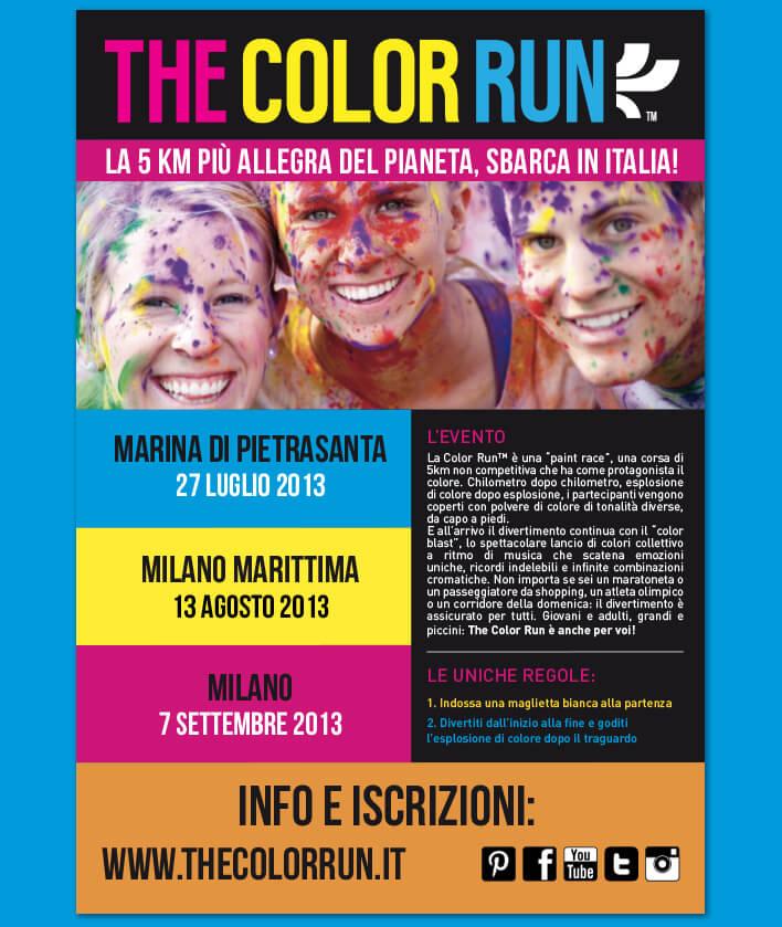 Flyer Color Run 2013
